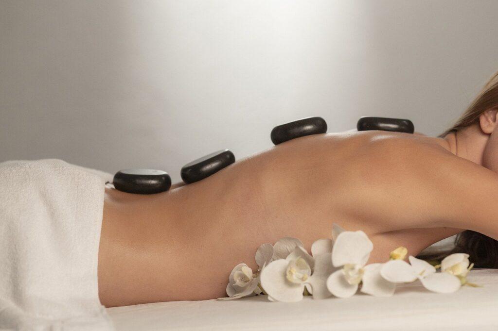massage, spa, stones